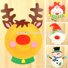 Creative DIY Chtistmas Paper Plate Collage Great Gifts for Kids