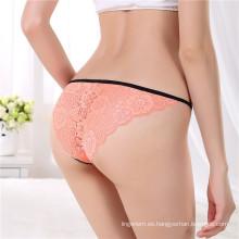 El último diseño Anti-Bacterial Jockey Sexy Transparente Ladies Underwear bragas femenino Thong Bikini