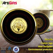 Fabricación de manufactura redonda personalizada de metal dorado