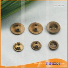 Bouton en alliage de zinc et boutons en métal et bouton de couture métallique BM1592