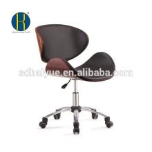 Новый дизайн черный кожаный деревянная шарнирного соединения офисной мебели