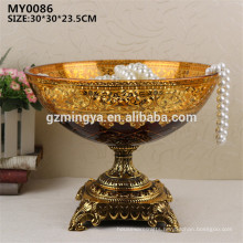 Wedding decoration home glass craft and art decorative glass fruit plate for home decor