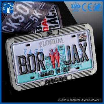Medaillenhersteller, der Metallsport-Marathon-Finisher-Medaille herstellt