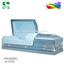 acheter des cercueils métalliques de JS-ST241 haute qualité avec intérieur velours