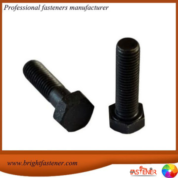 Black Oxide Mild Steel Half Threaded Hex Bolts