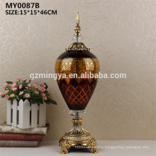 Guangzhou mingya craft factory price Christmas decorative glass bottle for home decor