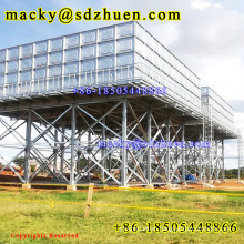Uganda Widely Use Elevated 300m3 Hot Dipped Galvanized Steel Water Tank With High Quality