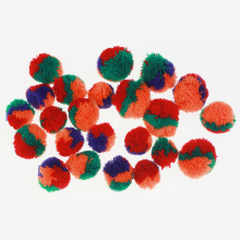 Multi color cashmere pompom fro kids crafting