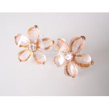 Fashin Bling Flower Stud Earrings