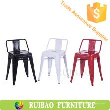 Cadeiras elegantes clássicas do jardim do metal do vintage para o jardim