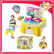 2014 neue Produkte Kinderspielzeug LICHT MUSIK KÜCHENGERÄTE STORAGE KASTEN KOCHSATZ FÜR SPASS Küche Set Küchengerät