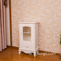 French style white Wood wine Cabinet