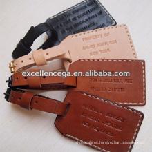 Popular Personalised Leather Luggage Tag