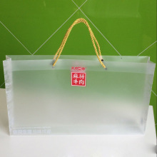Custom Branding Printing Plastic PP Bag con cuerda (bolso grande de PVC)
