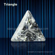 Zirconia cúbica de forma de triángulo de varios colores