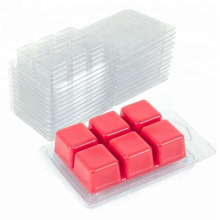 Caja de embalaje de plástico transparente cera derretida