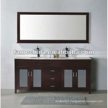 2013 best selling oak solid wood bathroom cabinet