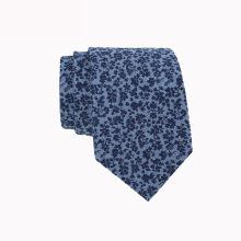 Linho feito à mão impresso gravata personalizada Floral