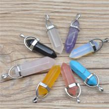 Wholesale Assorted Mixed Natural Stone Pendulum Pillar Pendants