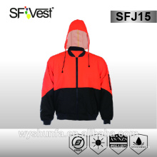 safety reflective red jacket polyester oxford jacket for workwear