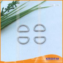 Boucles en métal de 12 mm, régulateur de métal, anneau en D en métal KR5051