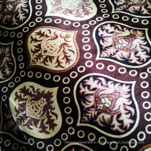 Tissu de velours de chaîne de polyester de couverture de fil de couture