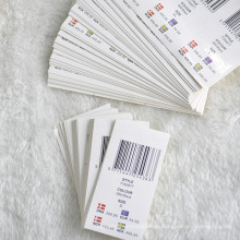 Стикеры штрих-кода прикреплены назад Hangtag для этикеток одежды