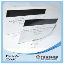Tarjeta plástica de PVC con banda magnética