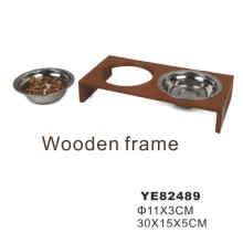 Bowl de acero inoxidable para mascotas, tazón de alimentación para perros (YE82489)