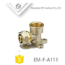 EM-F-A113 Fixed type Tee type female thread brass compression pipe fitting