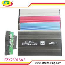 Aluminio aleación USB 2.0 SATA 2.5inch disco duro externo / HDD recinto