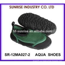 SR-12MA027-2 El agua antideslizante del niño fresco calza los zapatos del agua de los zapatos de agua que practican surf calza los zapatos del agua de la aguamarina