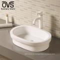 hecho en lavabo superior de cerámica de China