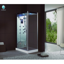 K-708 steam shower cabin with acrylic bar stool and acupuncture massage