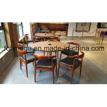 Meuble de table et chaise de restaurant rond pour 6 personnes (FOH-RTC03)