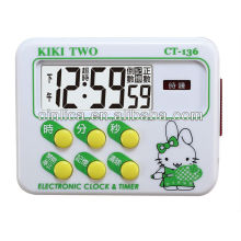 memory digital timer with magnet ,kitchen countdown timer CT-136