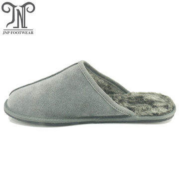 Men warm winter handmade leather sheepskin slippers