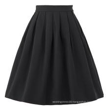 Belle Poque Stock Cotton Spandex Black Vintage 50s Retro Dress Skirt BP000154-1