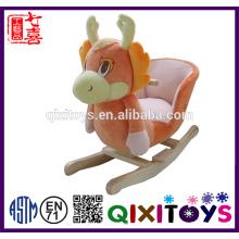 Custom plush horse unicorn rocking horse