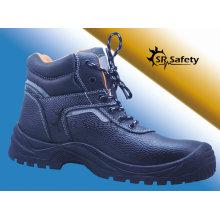 SRSAFETY Новый стиль высокого качества тиснения корова сплит кожа безопасности обувь черные стали безопасности обувь, сделанные в Китае