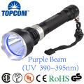 390 395nm Lâmpada UV Lâmpada de mergulho submarino do diodo emissor de luz Lanterna subaquática de Blacklight