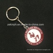 Cheap Promoitonal recuerdo metal llavero con logotipo impreso