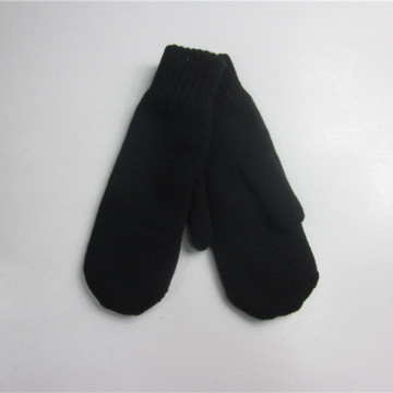 Black Cheap Blank Mitten Wholesale