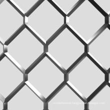 Low carbon cheap diamond steel expanded metal in rhombus door