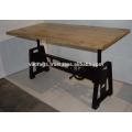 Heavy Mechanic Crank Table Pine Wood Top
