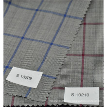 Hot sale glen check worsted 70%wool 30%polyester suiting fabric