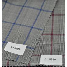 Nova chegada popular glen check worsted 70% lã 30% poliéster tecido para terno