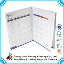 El bloc de notas mensual más barato del proveedor de Guangzhou con el calendario