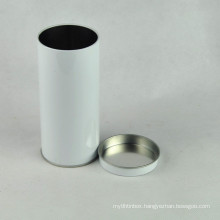 Round Food Grade Empty Tea Can Tin Box Airtight Container