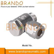 Acessórios para tubo virola de compressão pneumática de latão banjo macho